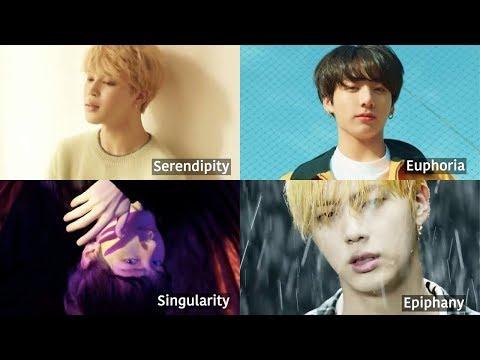 BTS - Serendipity, Euphoria, Singularity, Epiphany | Love Yourself Evolution