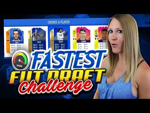 THE FASTEST TEAM FUT DRAFT CHALLENGE!! FIFA 18 ULTIMATE TEAM