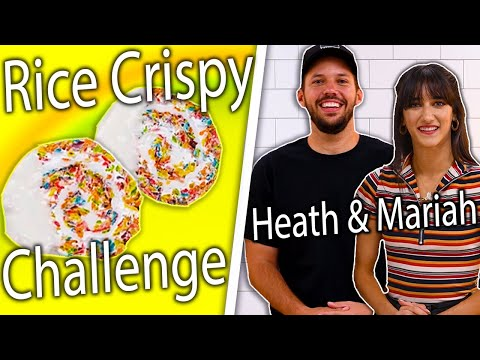 Can Heath Hussar & Mariah Amato Re-Create Our Rainbow Rice Crispy Treats? | Snackable Food Challenge