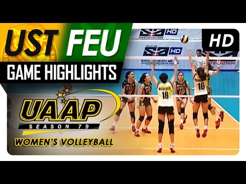 UAAP 79 Women's Volleyball: UST vs FEU Game Highlights - March 25, 2017