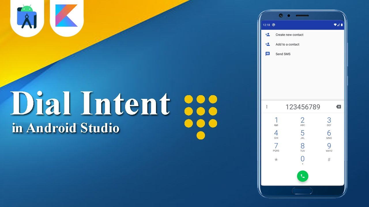Dial Intent in Android Studio | Kotlin | Android Tutorials