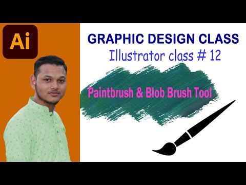 Paintbrush Tool U0026 Blob Brush Tool। Adobe Illustrator Bangla  Tutorial   Class # 12