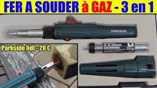 fer à souder à gaz lidl parkside présentation gas soldering iron gaslötkolben saldatore a gas