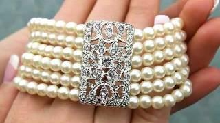 Vintage Pearl Bridal Bracelet - Opera