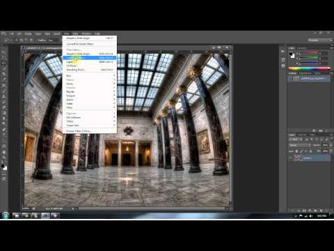 Photoshop CS 6 Wide Angle Distortion Filter