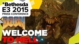 "DOOM ""Welcome To Hell"" Gameplay - E3 2015 Bethesda Press Conference"