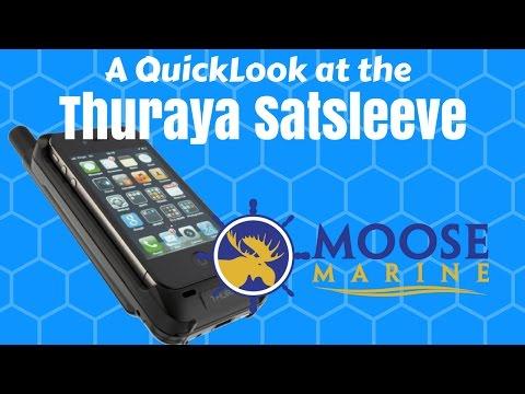 THURAYA Satsleeve Hotspot Sat Phone Wifi QuickLook with Moose - Moose Marine