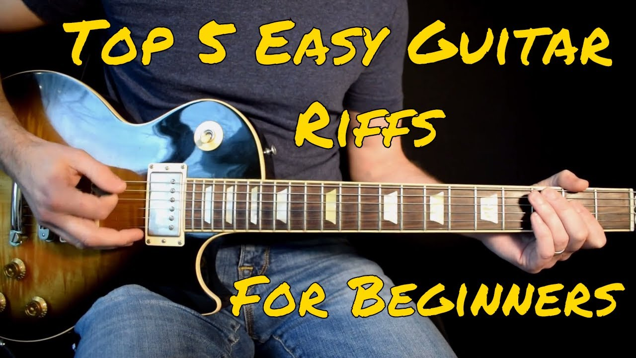 Top 5 Easy Guitar Riffs For Beginners Youtube