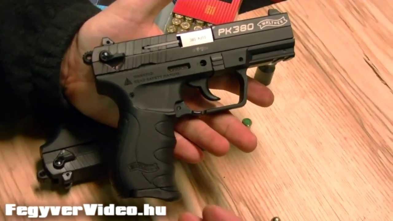 Walther PK380 éles és gázpisztoly (9 mm Br  Short és 9 mm PAK)