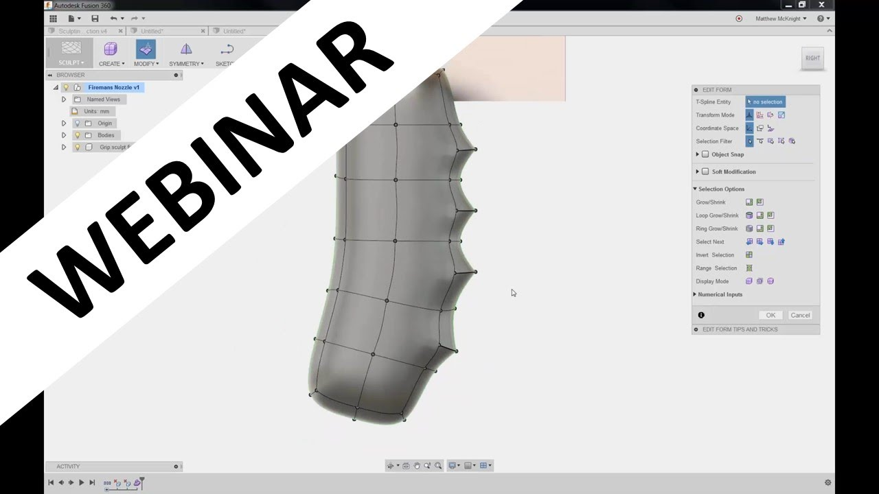 Organic Modeling Using Sculpting in Fusion 360