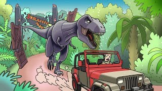 Jurassic Park Film: DON'T LET THE T-REX EAT YOU! (Roblox Dinosaur Park)
