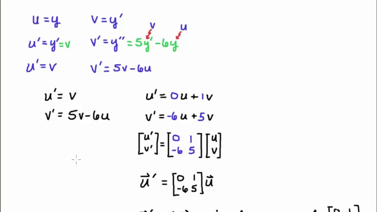 solving system of differential equations with initial conditions