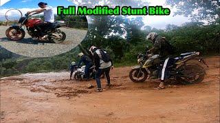 Full Modified Stunt Bike Fz150 / Ride Day With Bikemandu Team