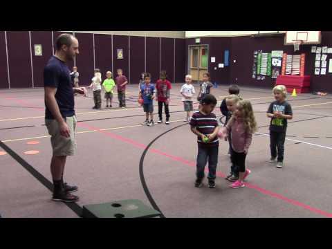 Kindergarten underhand toss
