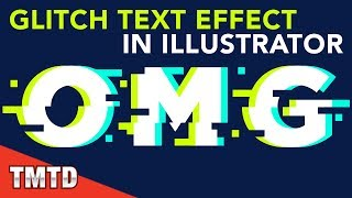 Illustrator Tutorials: Glitch Text Effect in Illustrator