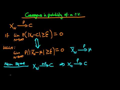 Convergence in probability of a random variable