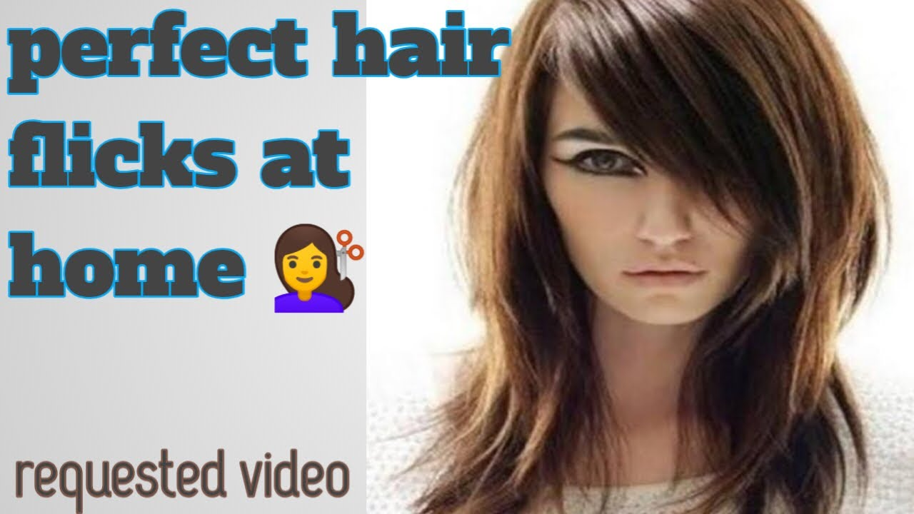 How To Cut Hair Flicks At home 💇 Perfect Hair cut