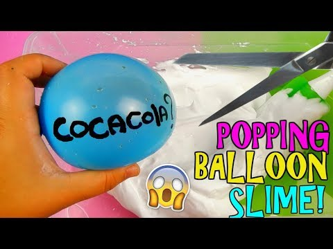 Download Youtube: SLIME SCOPPIANDO PALLONCINI! (POPPING BALLOON SLIME) LI RIEMPIO CON VOI! Iolanda Sweets