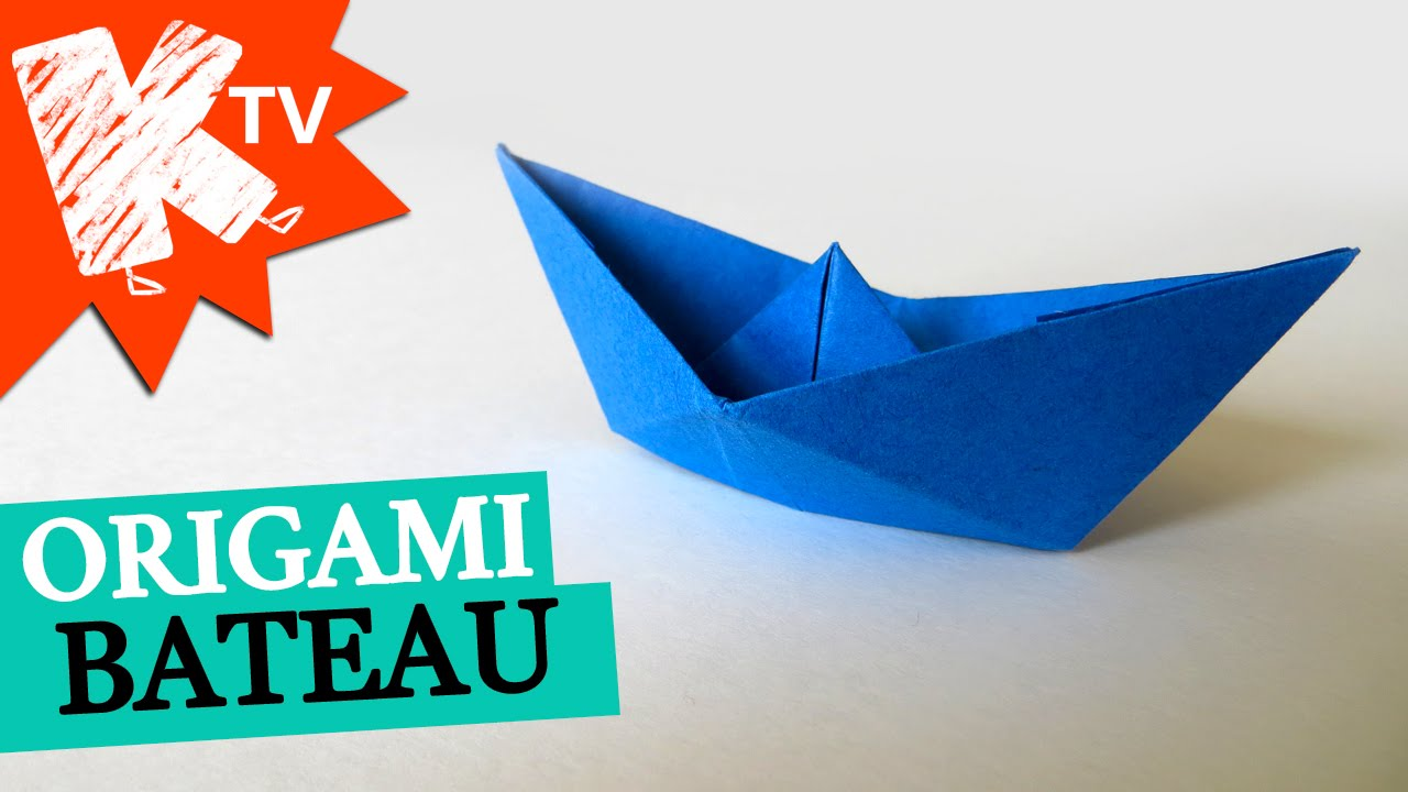 Bateau En Papier Origami Facile Youtube