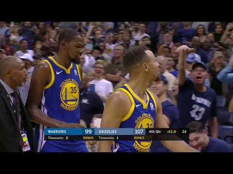 Warriors' Kevin Durant and Steph Curry Ejected in 4th Quarter vs.  Grizzlies