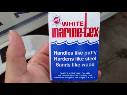 MARINE TEX: repairing damage to fiberglass hull boat bottom