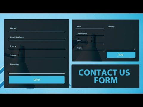 Responsive Contact Us Form Using HTML And CSS - Contact Form Design