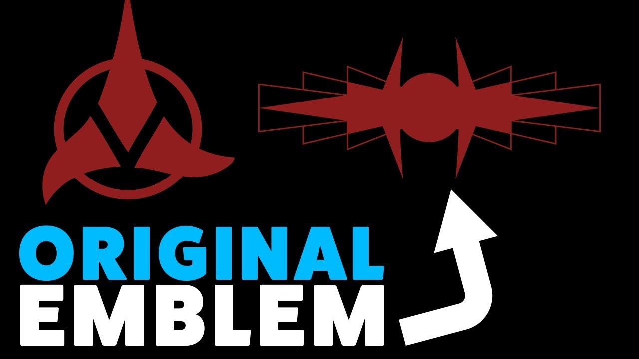 the original klingon emblem