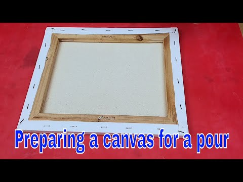 How To Prepare A Canvas For A Resin Pour - To Prevent Ridges And Dips