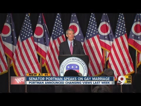 Sen. Rob Portman speaks at GOP event after announcing support for gay marriage