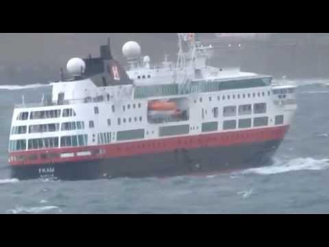 Cruise Ship FRAM Entering La Coruna Bay