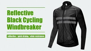 WOSAWE Men's High Visibility Cycling Wind Jacket Water Resistance