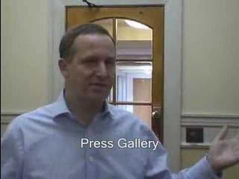 John Key - Tour of Parliament