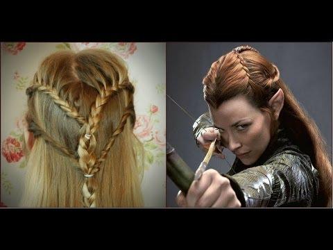 Tauriel Inspired Hair Tutorial   Haley & Bronwen - YouTube
