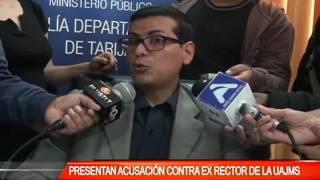 PRESENTAN ACUSACIÓN CONTRA EX RECTOR DE LA UAJMS
