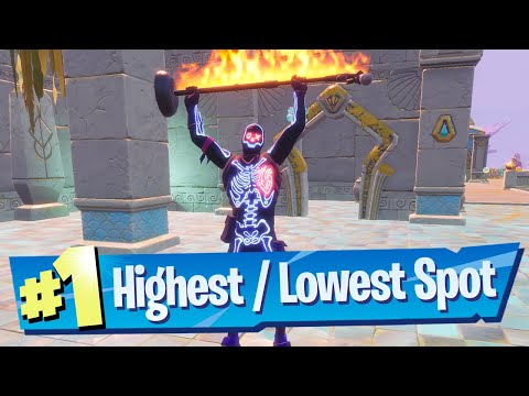 Dance at the Highest Spot and Lowest Spot on the map Location - Fortnite