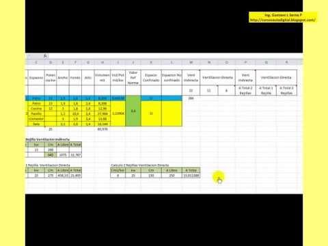 Curso basico de ventilacion calculo de rejillas youtube - Rejillas de ventilacion para banos ...