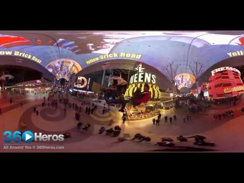 360 Video - Las Vegas, Fremont Street, Zipline