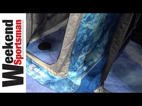 Clam Kenai Pro Thermal Flip Over Portable Ice Fishing Shelter | Weekend Sportsman | #ClamOutdoors