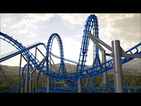 BLUE HAWK Six Flags Over Georgia Animation NoLimits 2