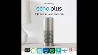 Introducing Echo Plus with built in Hub – Silver + Philips Hue Bulb included