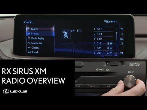 Lexus How-To: RX 350 AM/FM Sirius XM Radio Overview | Lexus