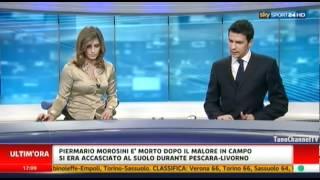 Annuncio morte Piermario Morosini a Sky