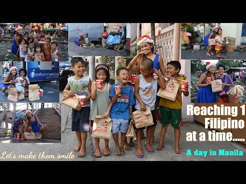 Travel to Manila Philippines and Meet some Poor Beggars in the Streets. The Real Face of Manila