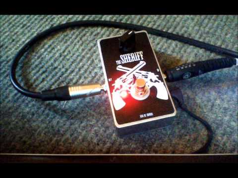 the SHERIFF - Treble boost/OD - Nine of Swords Effects. Handcrafted in the UK.