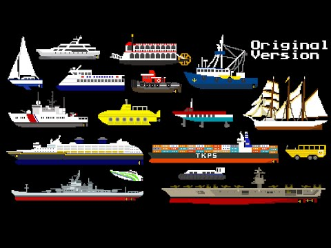 Water Vehicles - Boats & Ships - The Kids' Picture Show (Fun
