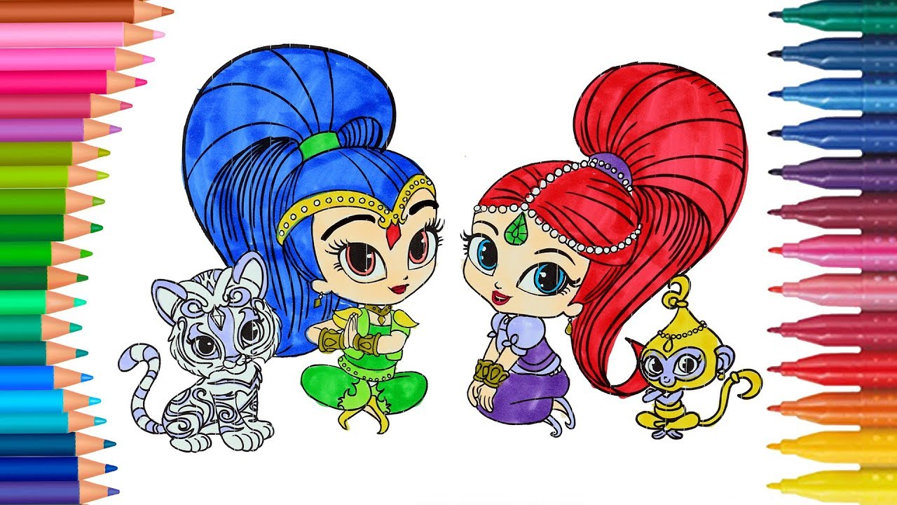 Shimmer e shine colorazione come disegnare e colorare for Shimmer and shine da colorare
