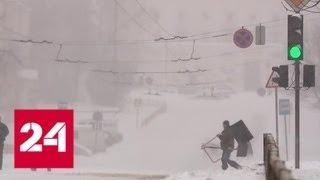 Снегопад в Кирове парализовал движение транспорта - Россия 24