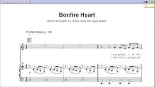 """Bonfire Heart"" by James Blunt - Piano Sheet Music (Teaser)"