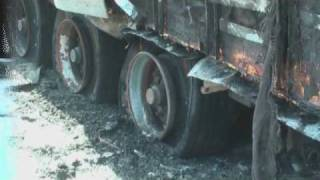 feuerwehreinsatz auf der a70 bei schonungen gochsheim lkw brennt