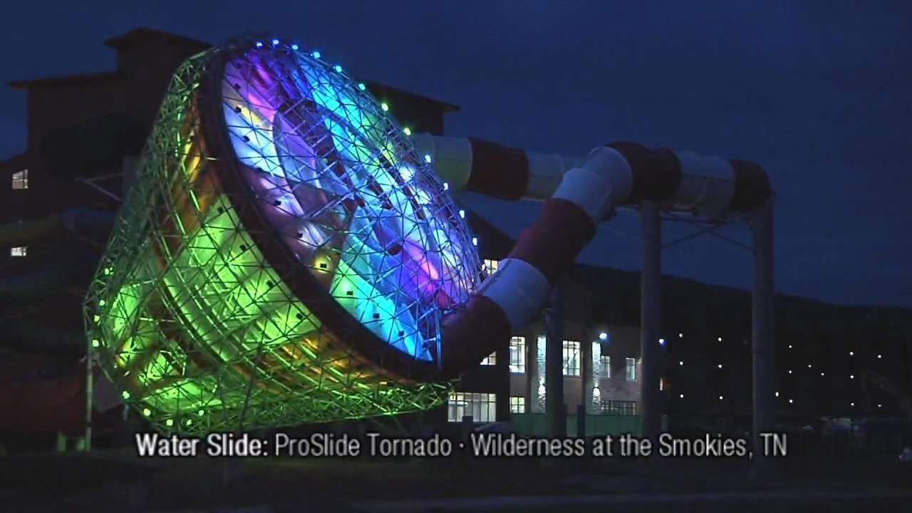 proslide tornado water slide wilderness at the smokies youtube
